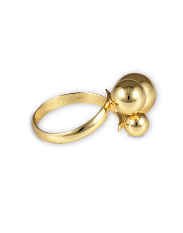 Gold Metal Adjustable Ring