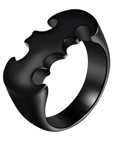 Titanuium Black Batman Ring for Men