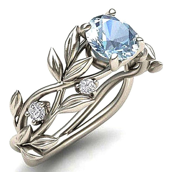 Karatcart Royal Blue Crystal Alloy Silver Plated Ring for Women & Girls