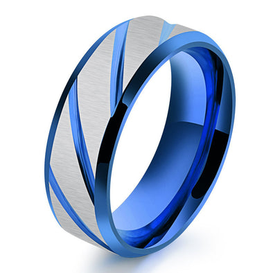 Karatcart Stainless Steel Blue Ring for Boys and Men