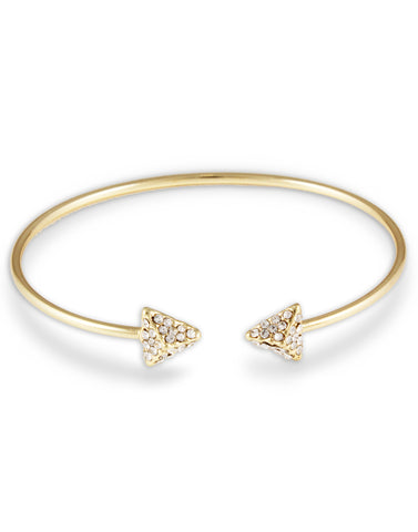 Gold Metal Crystal Arrow Bracelet