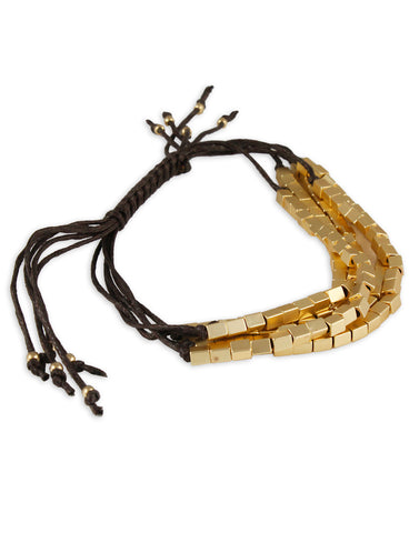 Mini Metal Blocks Thread kavala Bracelet