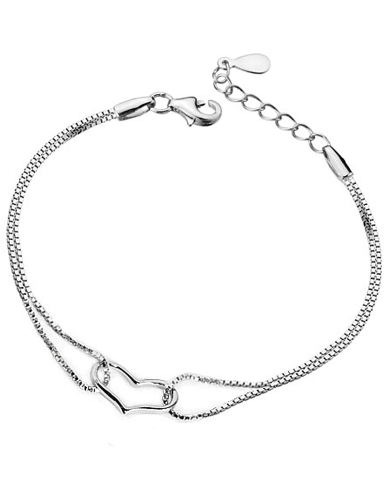 Platinum Plated Adjustable Bracelet