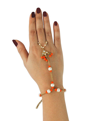 Kunuz Stylish Traditional Kundan Hathphool Bracelet
