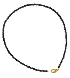 Karatcart Aanvi Black Trendy Single Strand Anklet