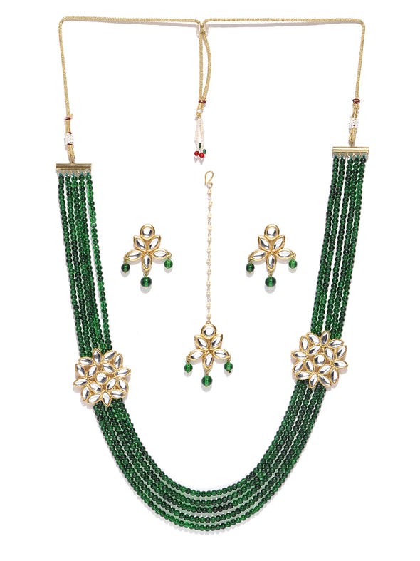 Karatcart GoldPlated Antique origings Rani Haar Kundan Necklace
