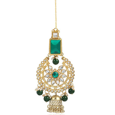 Traditional GoldPlated Kundan Maang-Tikka For Women