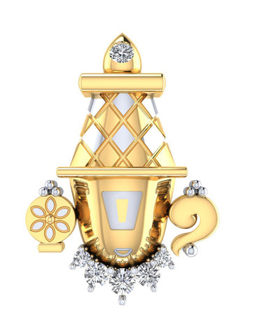 GoldPlated 925 Sterling Silver Balaji Pendant for Women (Without Chain)