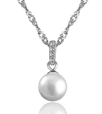 925 Sterling Silver Pearl  Pendant For Women