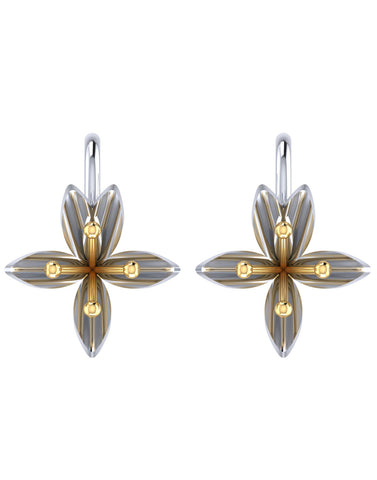 GoldPlated 925 Sterling Silver Stud Earrings