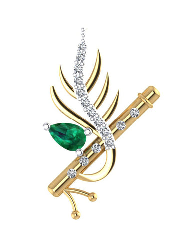 GoldPlated 925 Sterling Silver Krishna Pendant for Women (Without Chain)