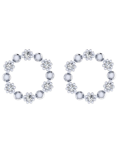 925 Sterling Silver Crystal Stud Earrings
