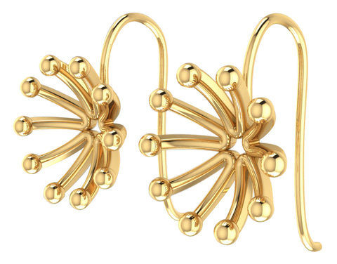 GoldPlated 925 Sterling Silver Stud Earrings For Women