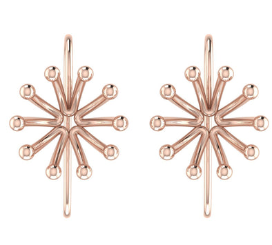 Rose GoldPlated 925 Sterling Silver Stud Earrings For Women
