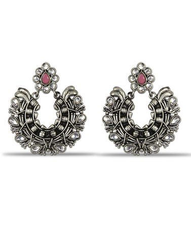 Karatcart Afghani Tribal Oxidised Dangler Stylish Fancy Party Wear light Weight Earrings