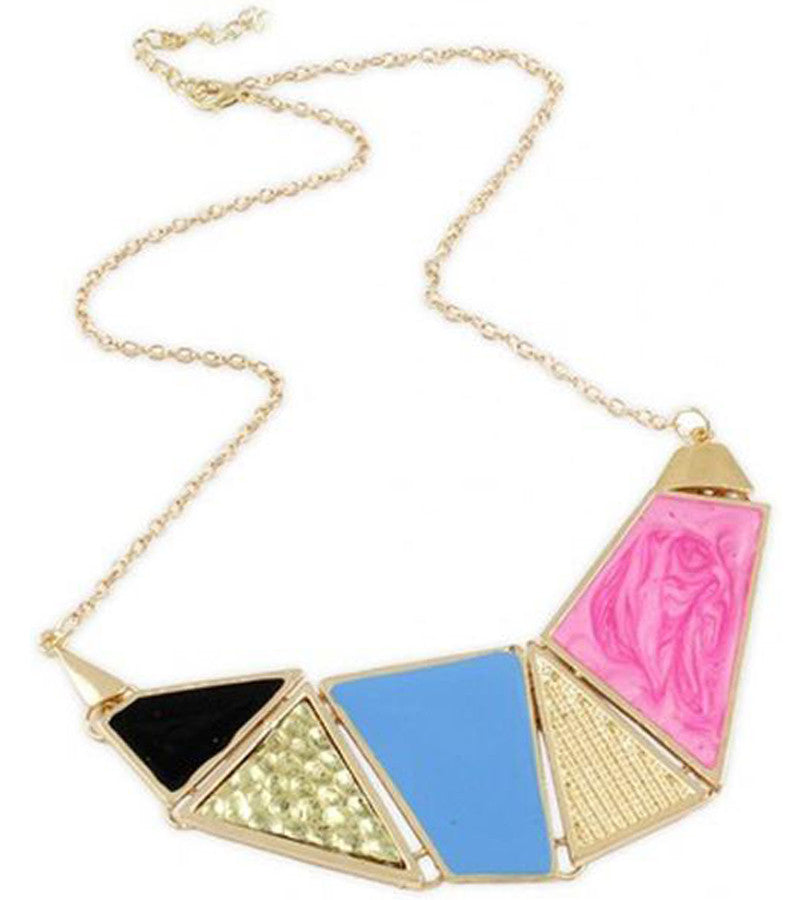 Karatcart Abstract Cut Colour Block  Alloy Necklace
