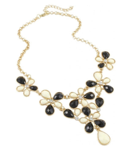 Karatcart Monochrome Blooming Alloy Necklace
