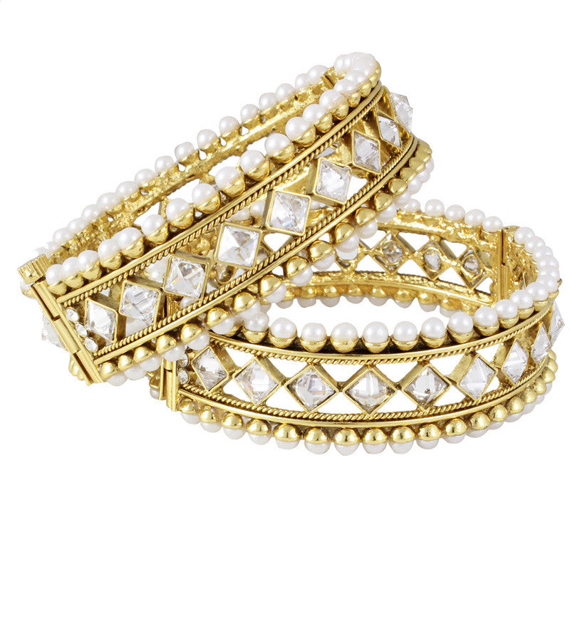 Karatcart 22k Goldplated Traditional Bangle Pair For Women