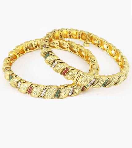 24K GoldPLated Traditional Bangle Pain For Women