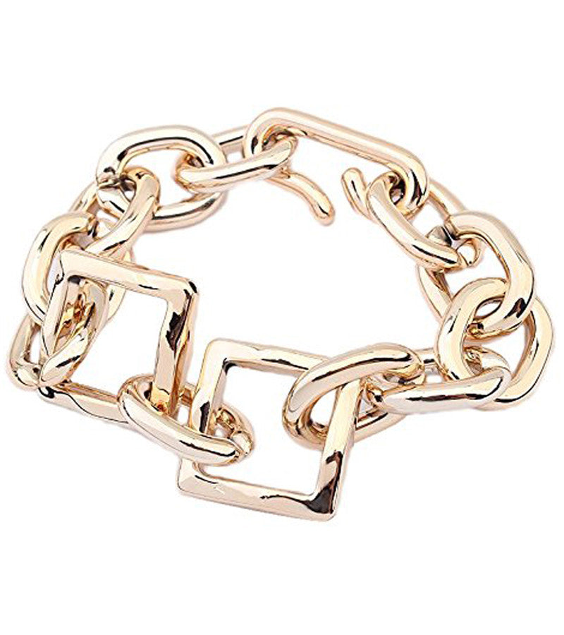 Gold Metallic Chain Bracelet
