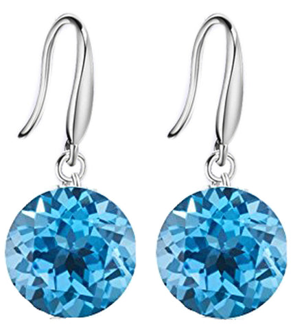 Karatcart Dazzling Crystal Metal Dangle Earring