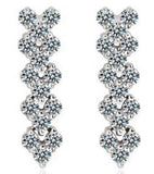 Valentine Gift By Karatcart Platinum Plated Crystal Earrings for Girls