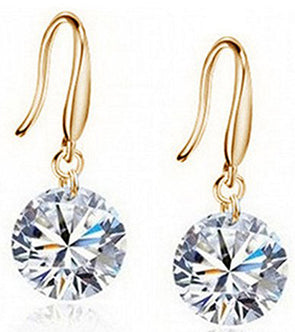 Karatcart Gold Plated Crystal Earrings