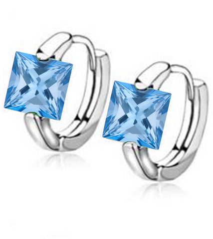 Platinum Plated Swiss Cubic Zirconia Earrings