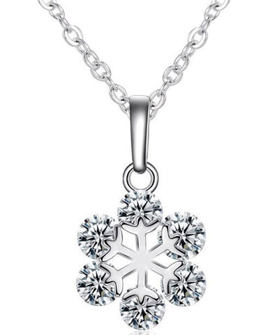 Karatcart Platinum Plated Trendy Elegant Austrian Crystal Pendant For Women