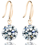 Karatcart 24K Rose GoldPlated Crystal Dangle Fashion Earrings For Women (2.00 CM) ...