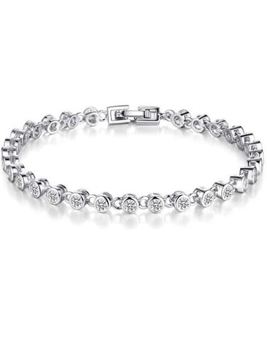 Karatcart Platinum Plated Crystal Bracelet For Women