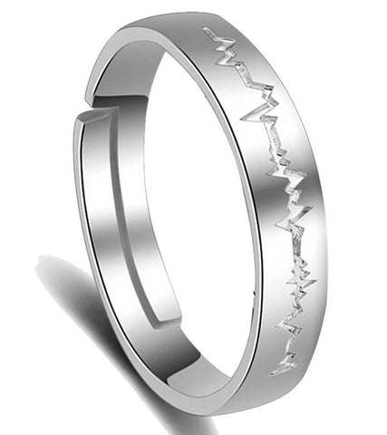 Platinum Plated Elegant Adjustable Band Ring For Men