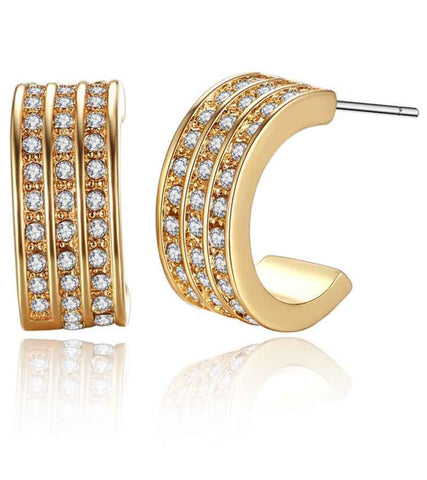 24K GoldPlated Austrian Crystal Earrings For Women