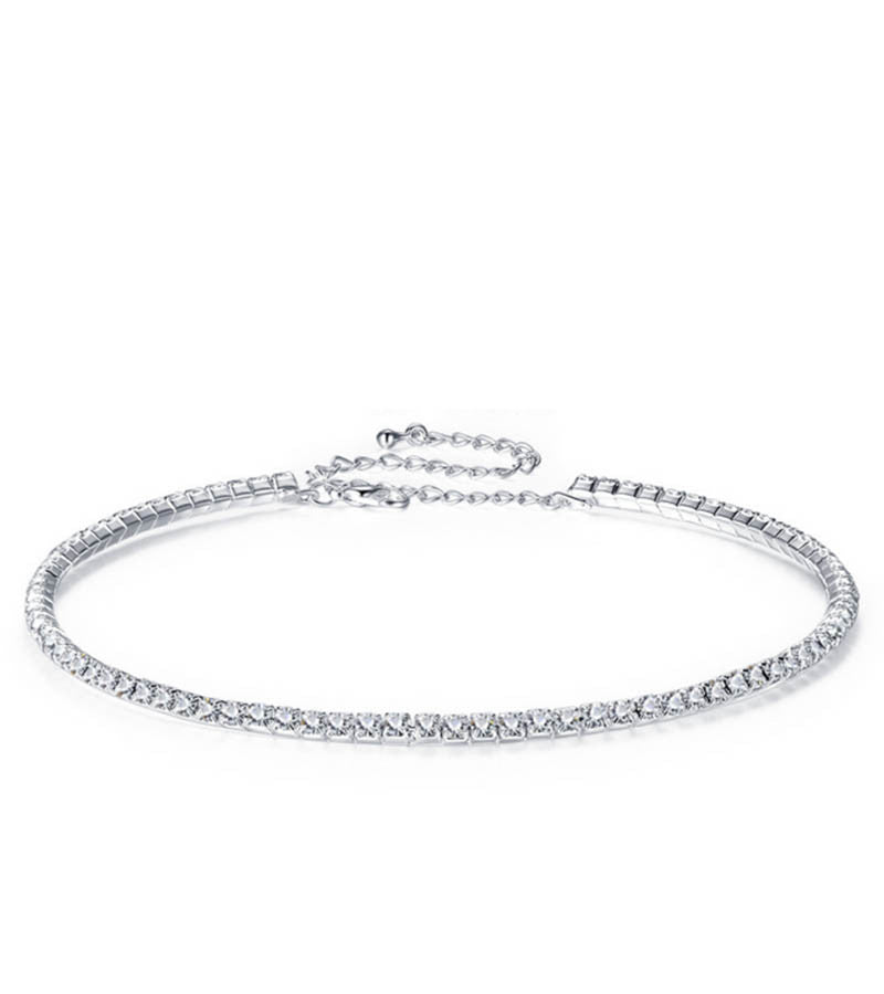 Karatcart Platinum Plated Austrian Crystal Choker Necklace