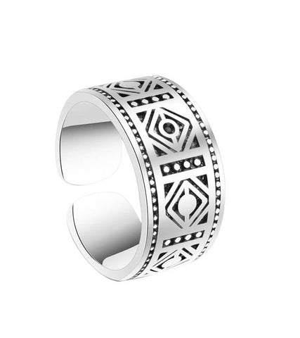 Platinum Plated Elegant Adjustable Band Ring For Women