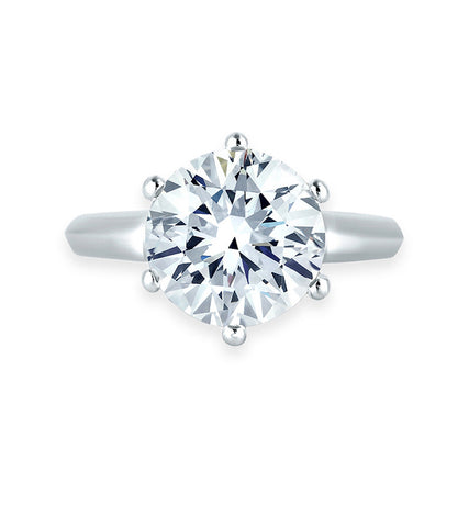 Platinum Plated Elegant Adjustable Solitare Ring For Women