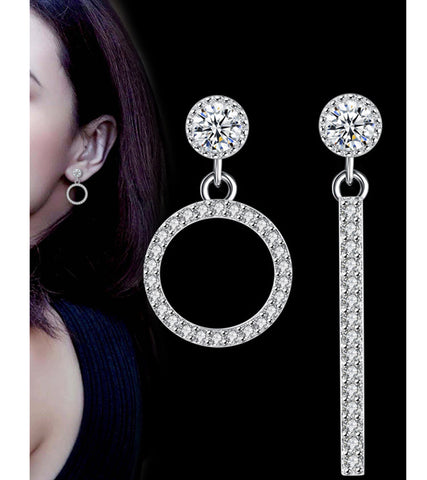 Platinum Plated Austrian Crystal Earrings For Women Be the first to review this item