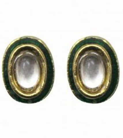 Meenakari Kundan O Stud Earrings