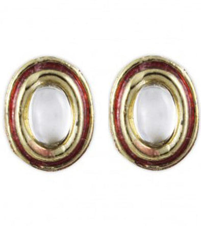 Karatcart Meenakari Kundan O Stud Earrings