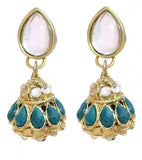 Kundan Green Borla Earrings