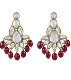 Ruby Tumble Kundan Earrings