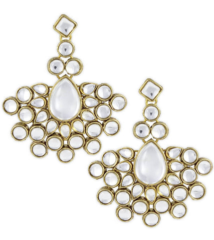 Nisha Kundan Danglers Earrings