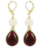 Karatcart Ethnic Kundan 14K Yellow Gold Plated Alloy Clip-on Earring