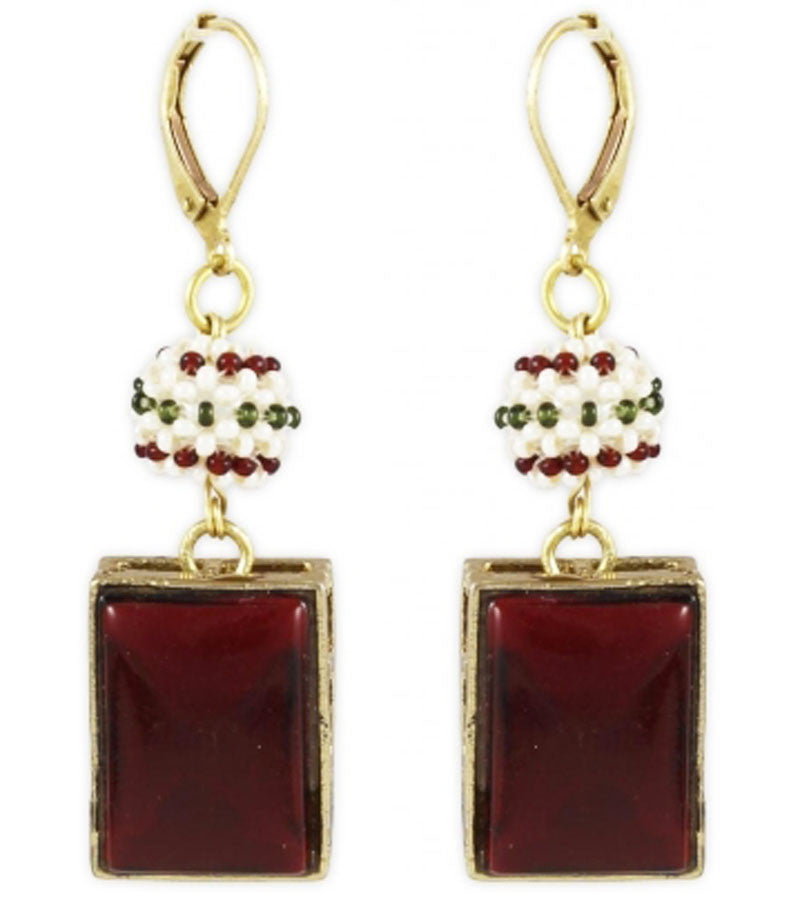 Karatcart Metal Dangle & Drop Women Red