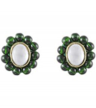 Karatcart Oval Beads Stud Earrings