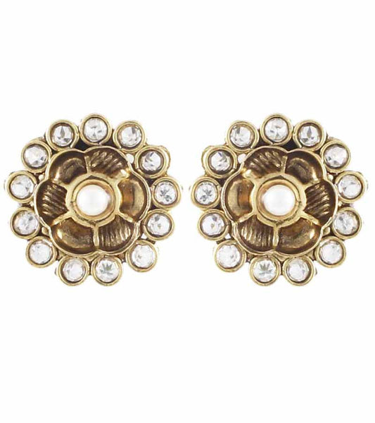 Karatcart 22K Goldplated Stud Earrings Set  by Karatcart