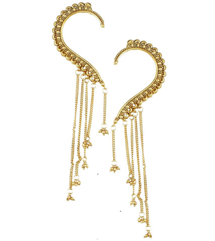 Karatcart 22K Goldplated Earcuff Earrings