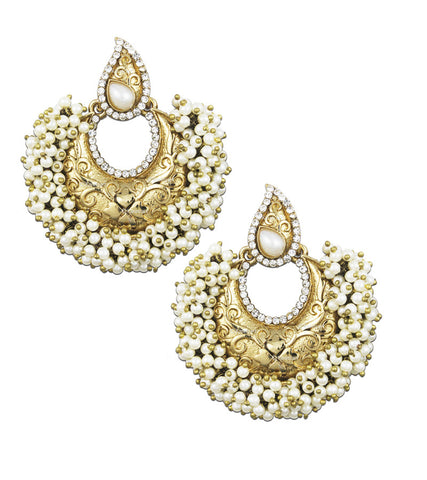 Karatcart 24K Goldplated Traditional Earrings Set For Women