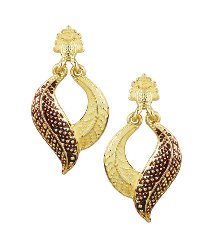 Karatcart 24K GoldPlated Meenakari Bell Shaped Earring Set for Women