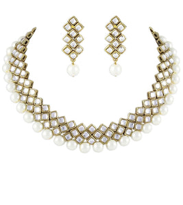 Kundan and Pearl Necklace By Karatcart